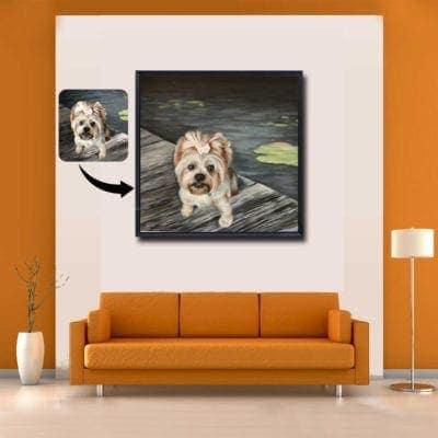 pet oil portrait