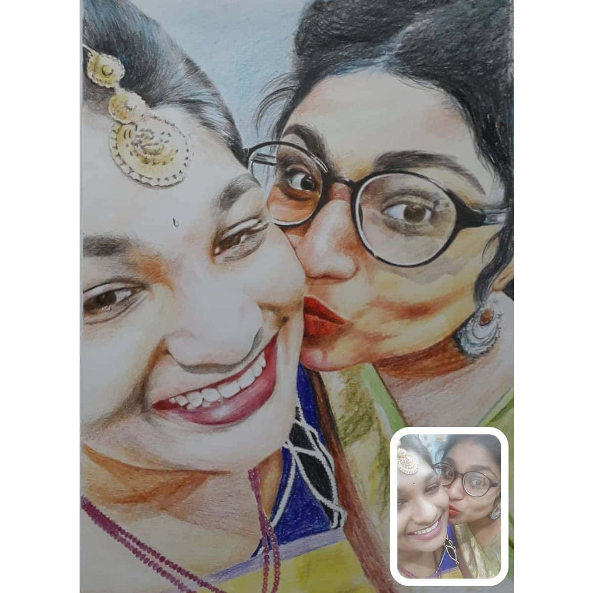 Colored pencil drawing photo to colored pencil sketch free shipping