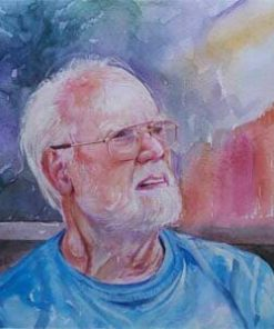 watercolor old man
