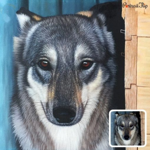 Acrylic Pet Portrait From Photo