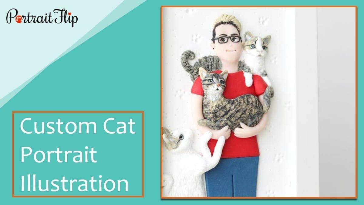 Custom cat portrait illustration