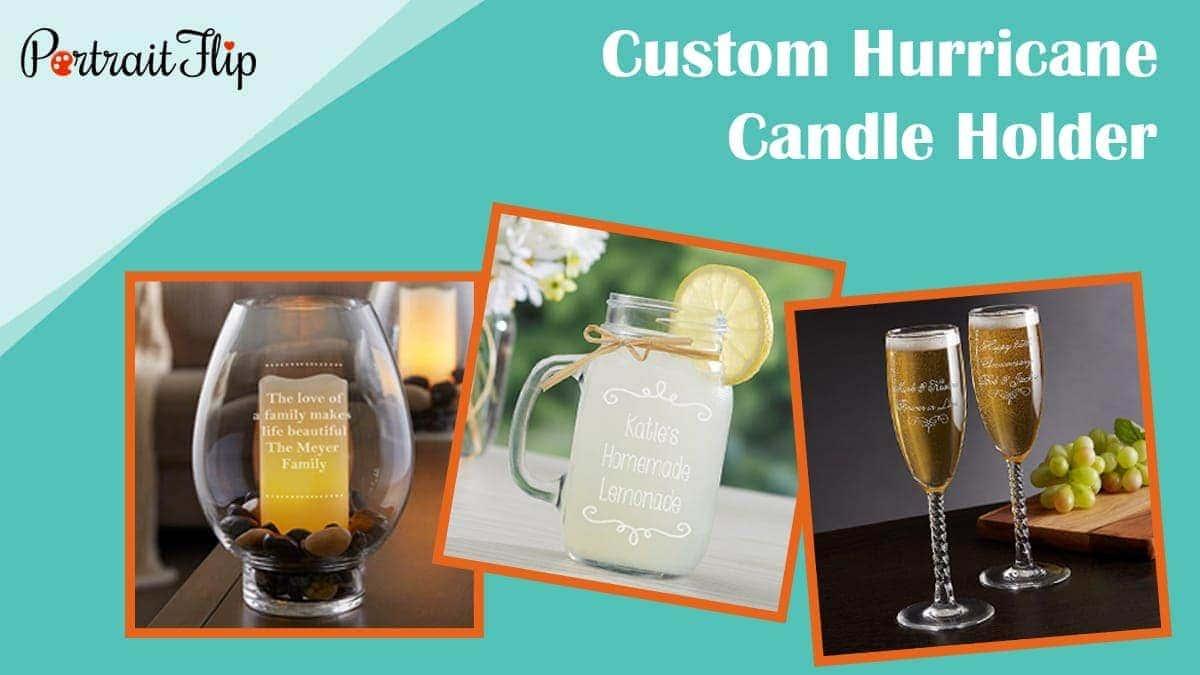 Custom hurricane candle holder