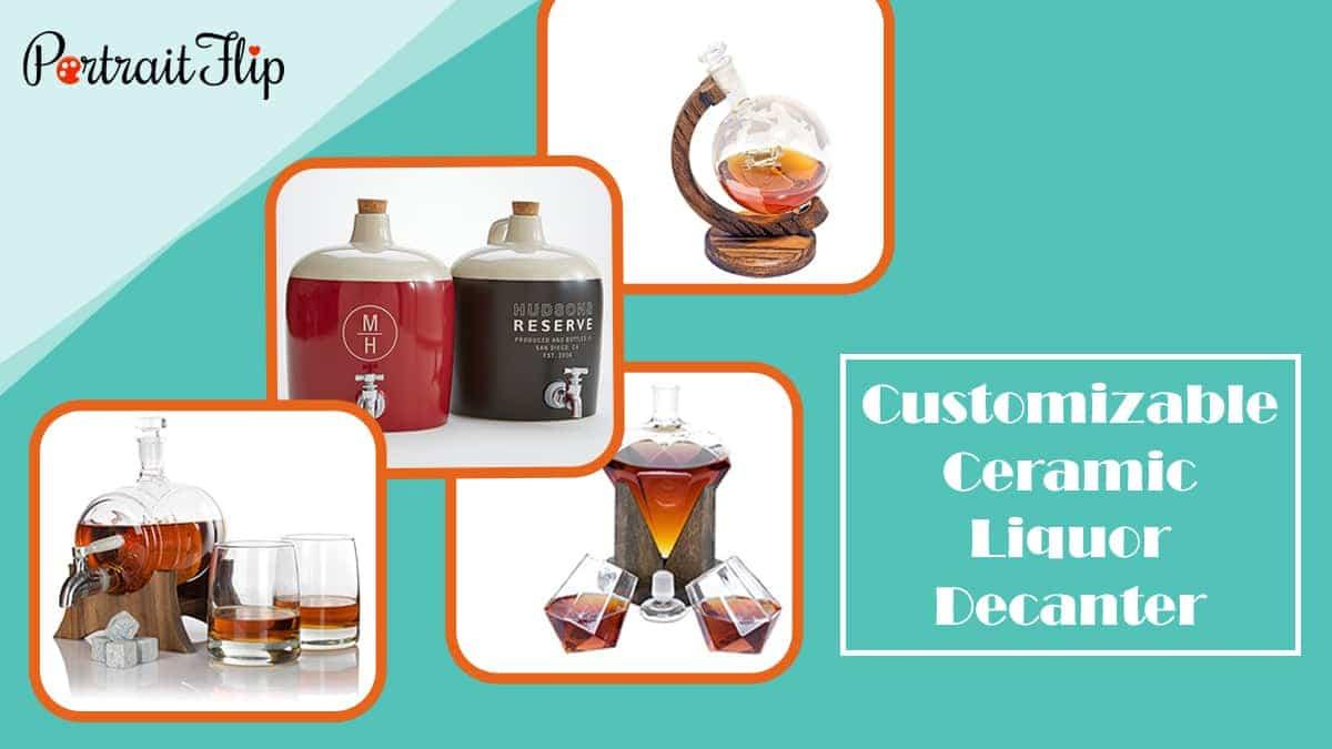 Customizable ceramic liquor decanter
