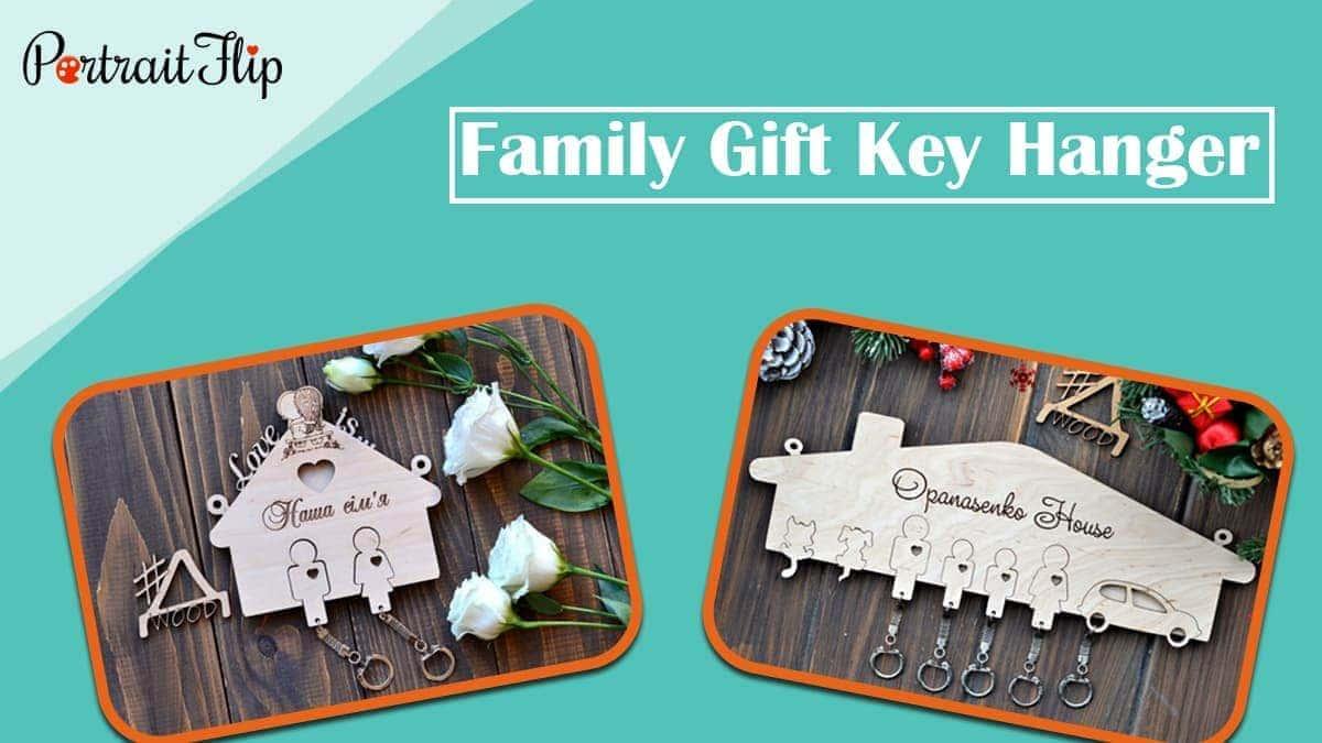 Family gift key hanger