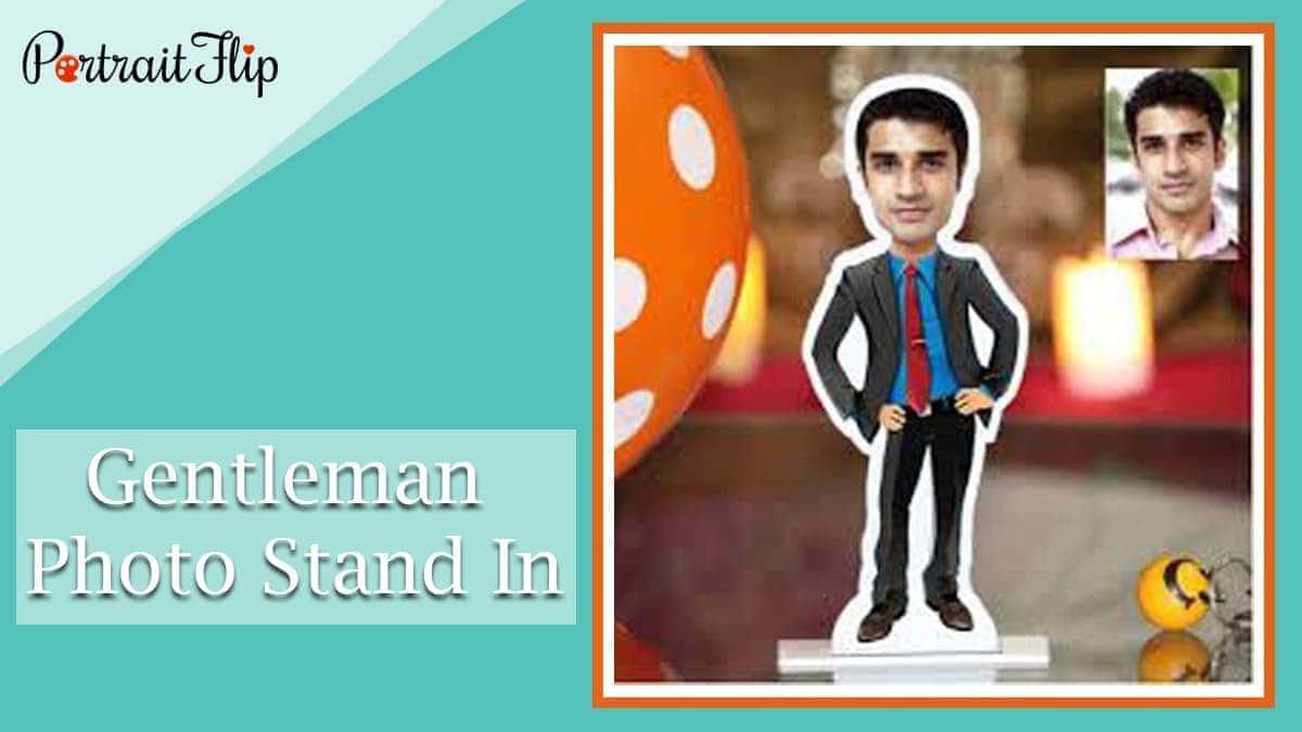 Gentleman photo stand in