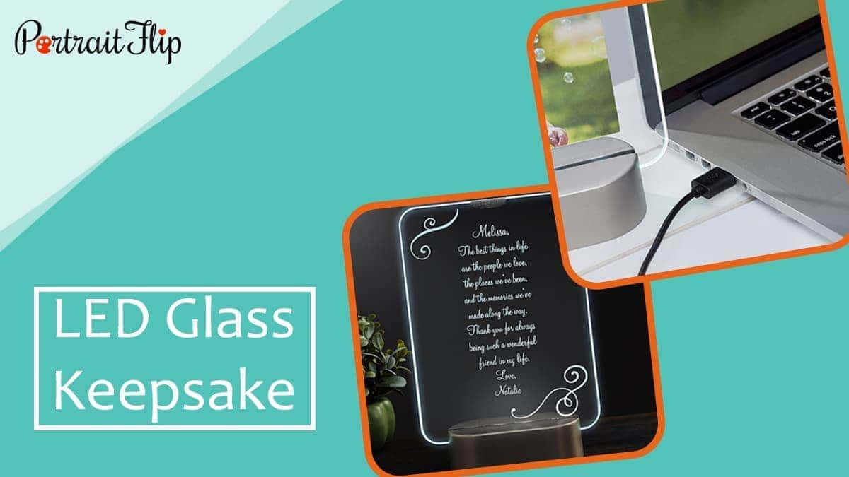 Led glass keepsake