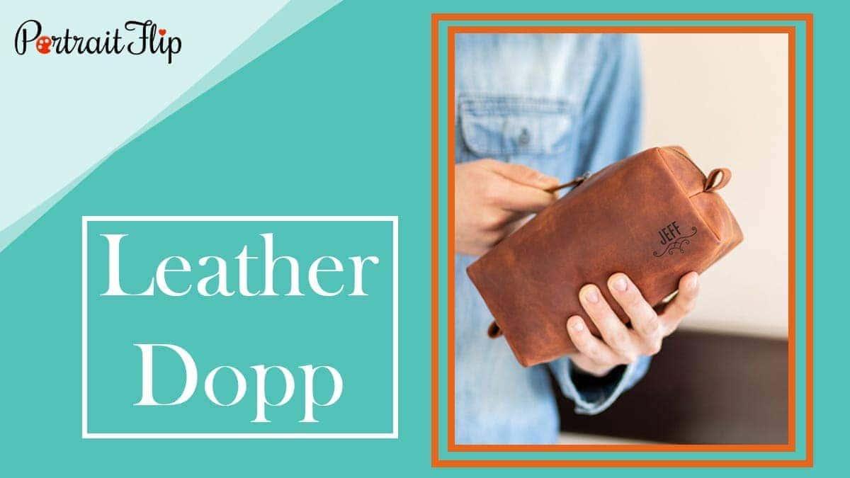 Leather dopp