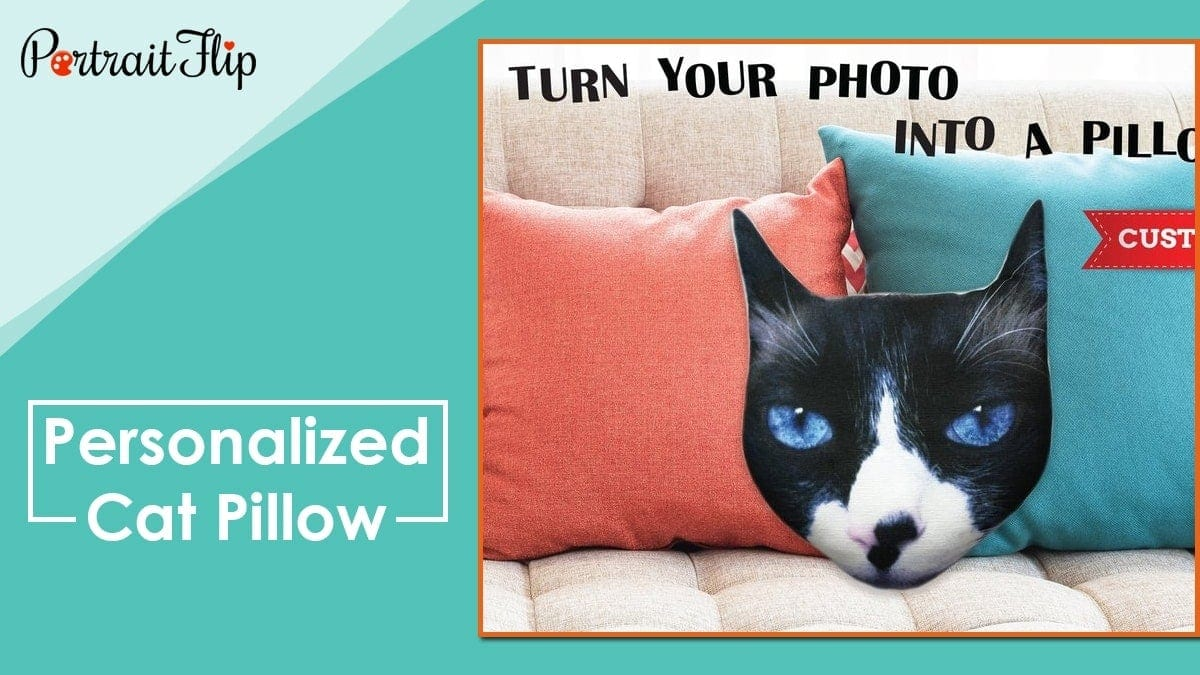 Personalized cat pillow
