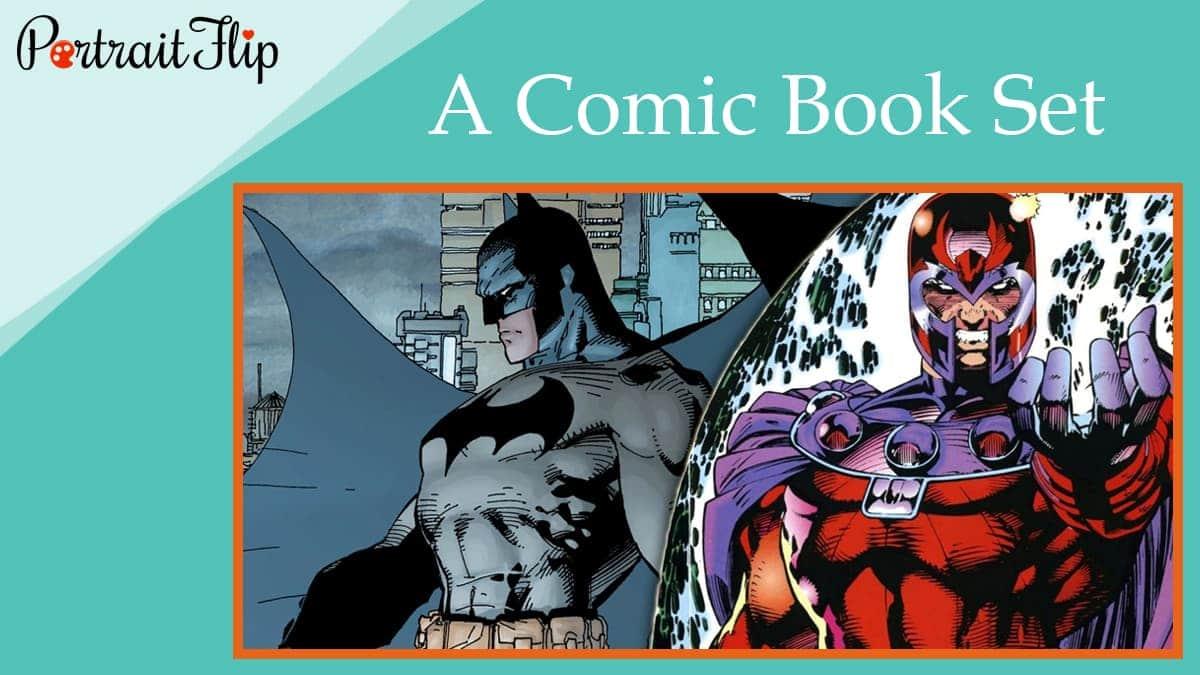 A comic book set