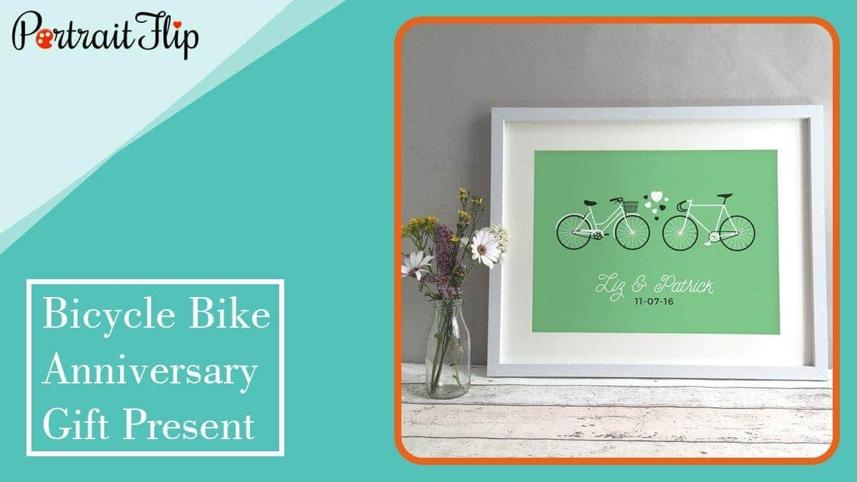 Bicycle bike anniversary gift present