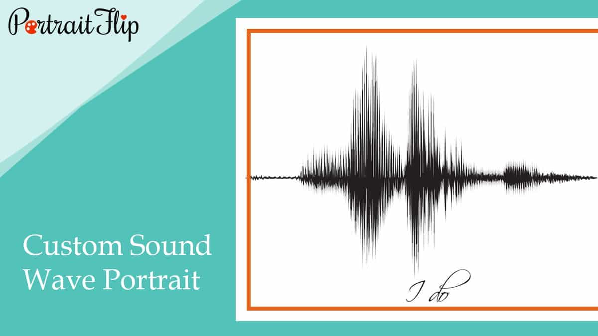 Custom sound wave portrait
