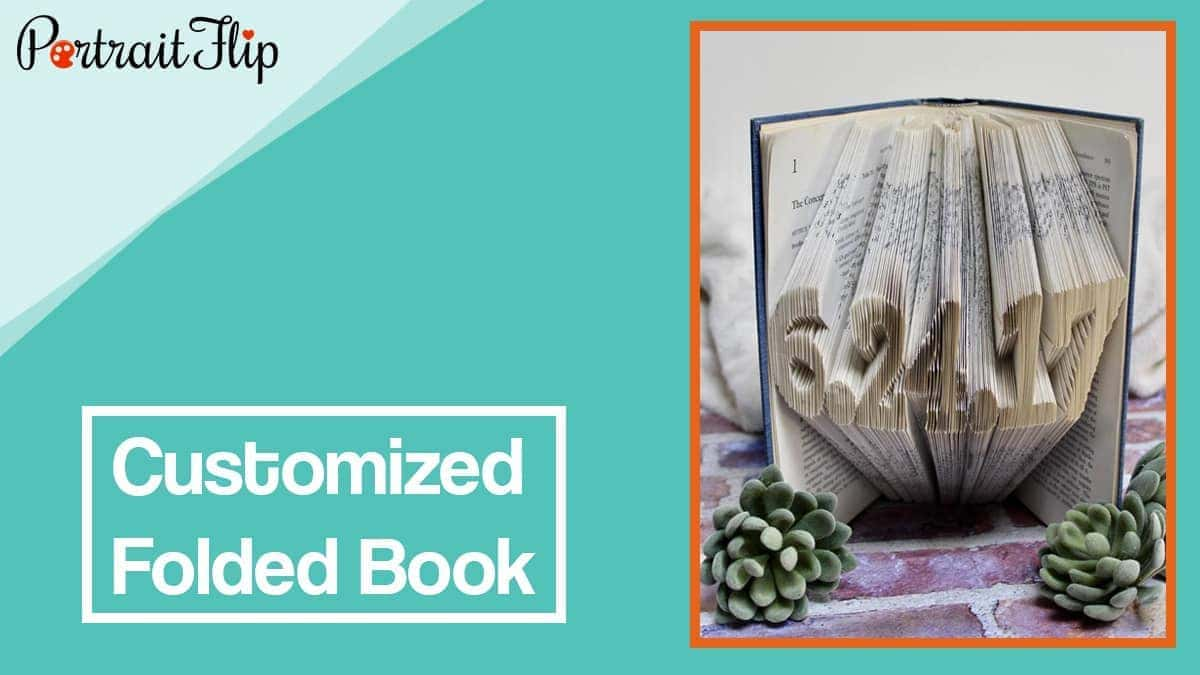 Customized folded book
