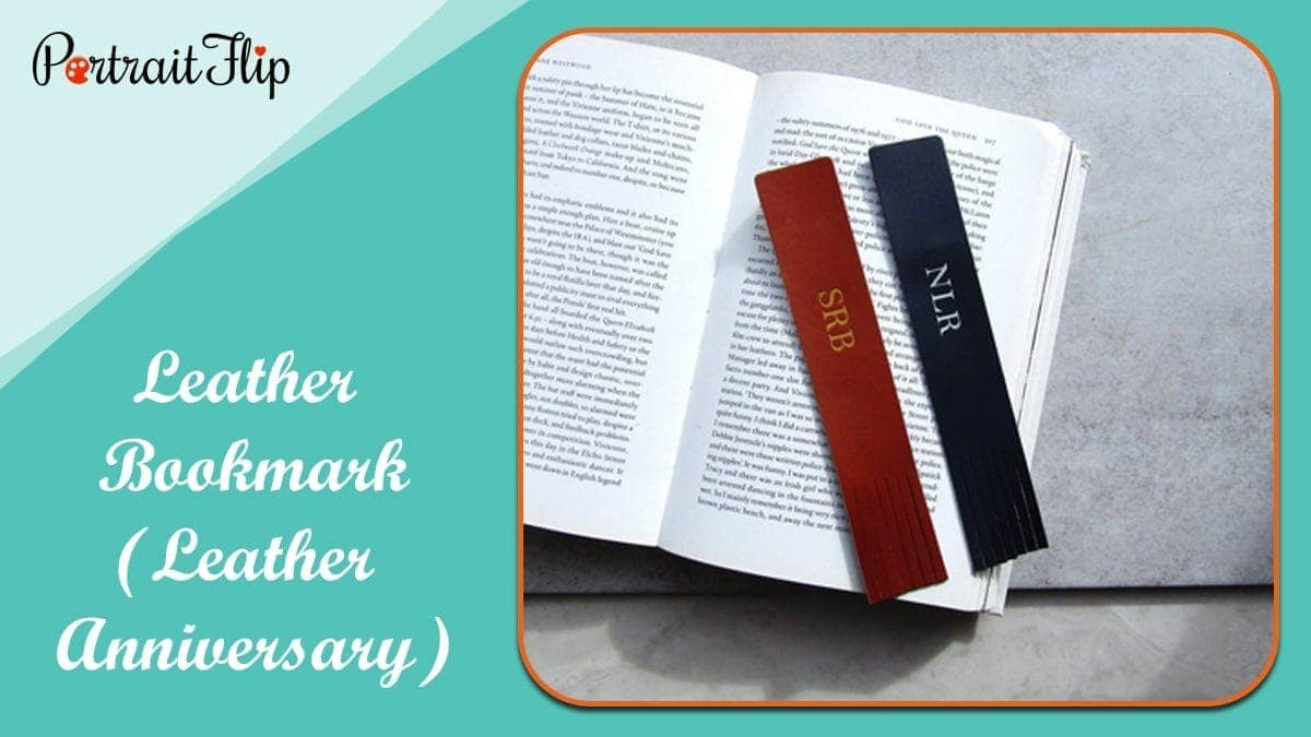 Leather bookmark (leather anniversary)