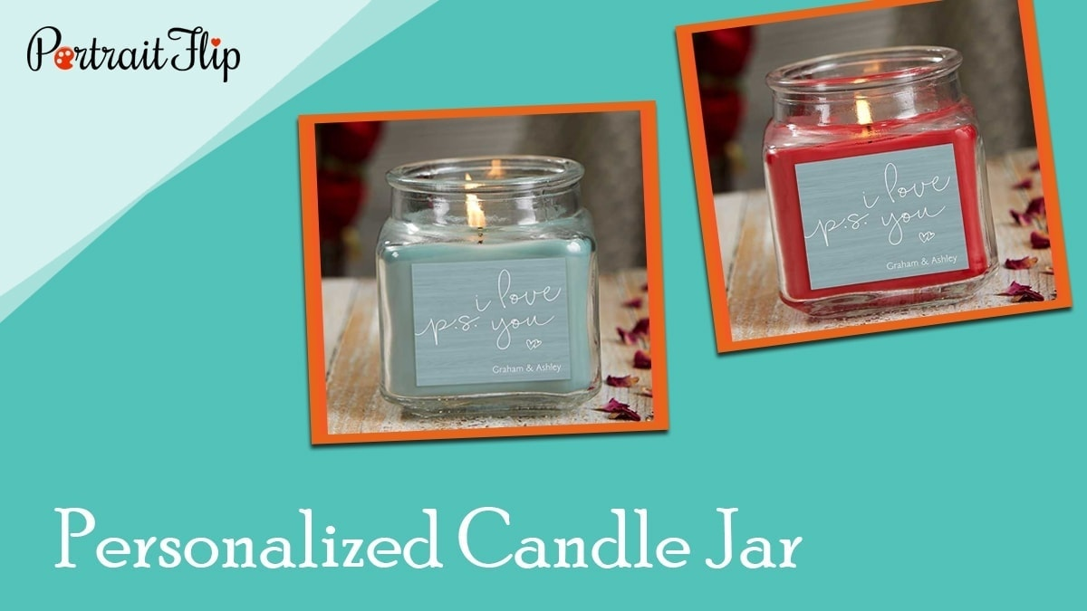 Personalized candle jar