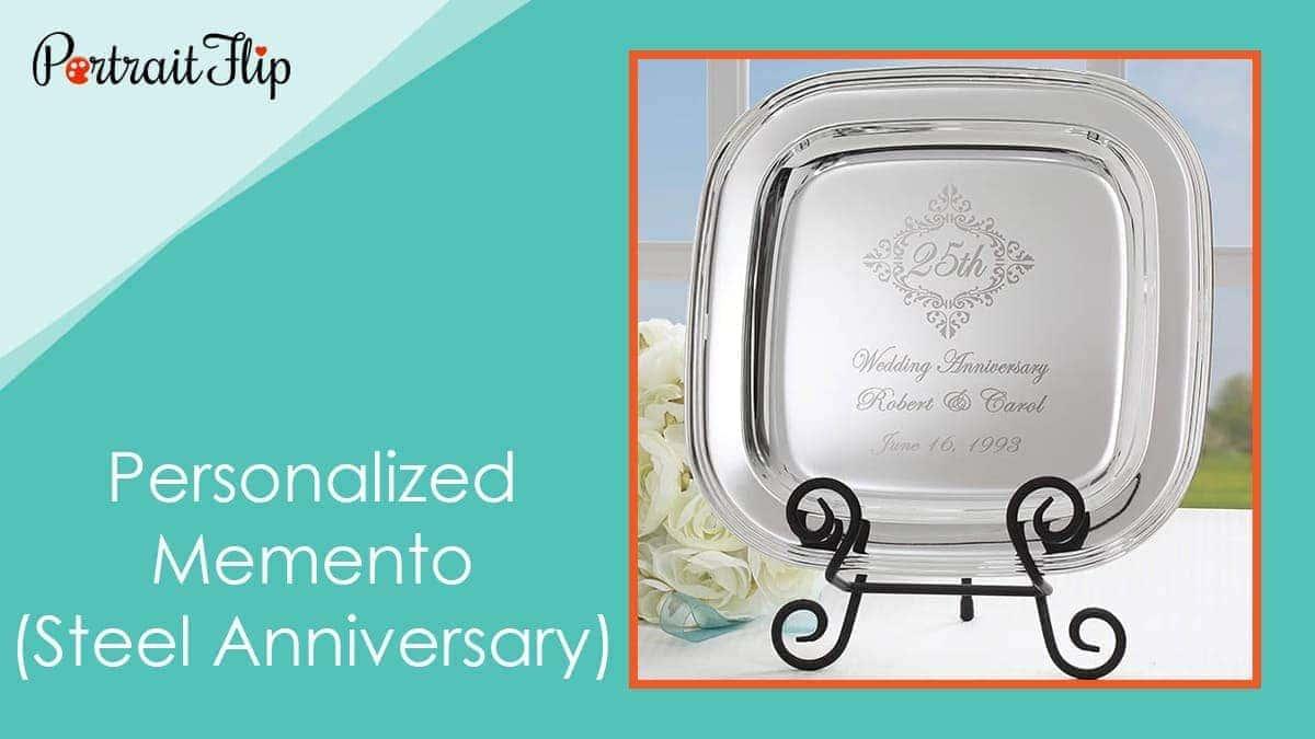 Personalized memento (steel anniversary)