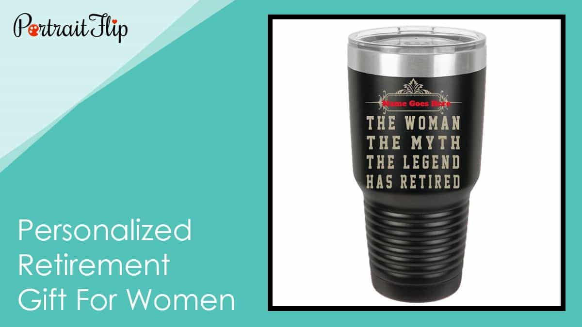 Personalized retirement gift for women
