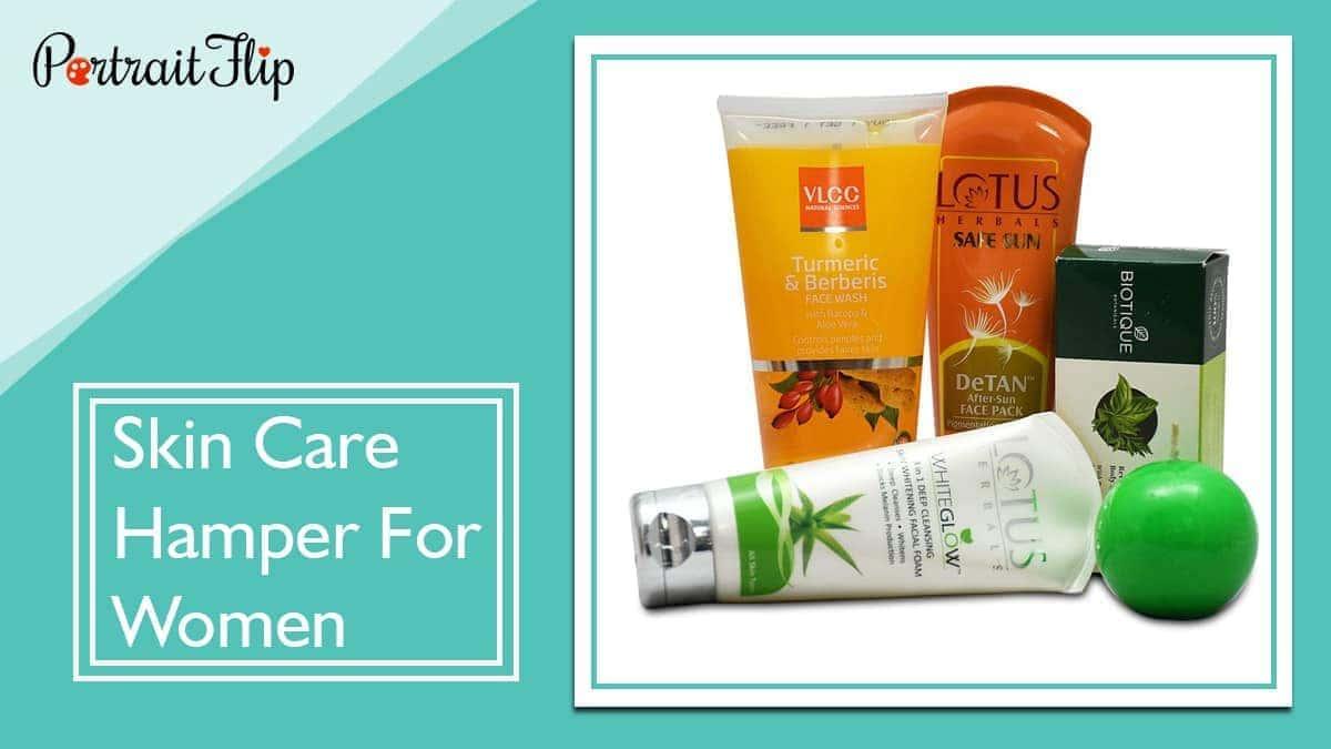 Skin care hamper for women
