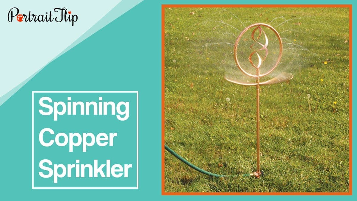 Spinning copper sprinkler