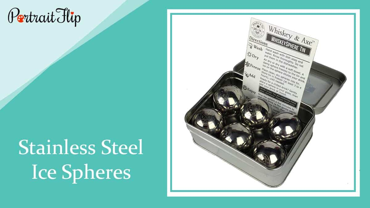 Stainless steel ice spheres