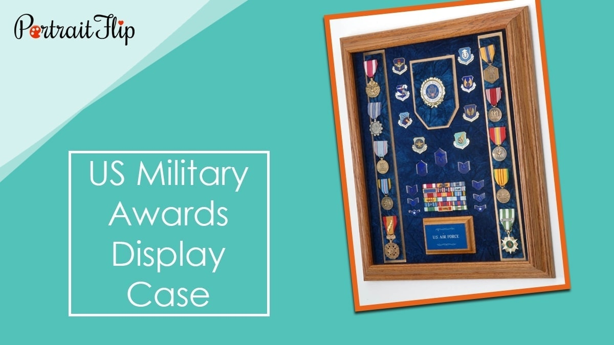 Us military awards display case