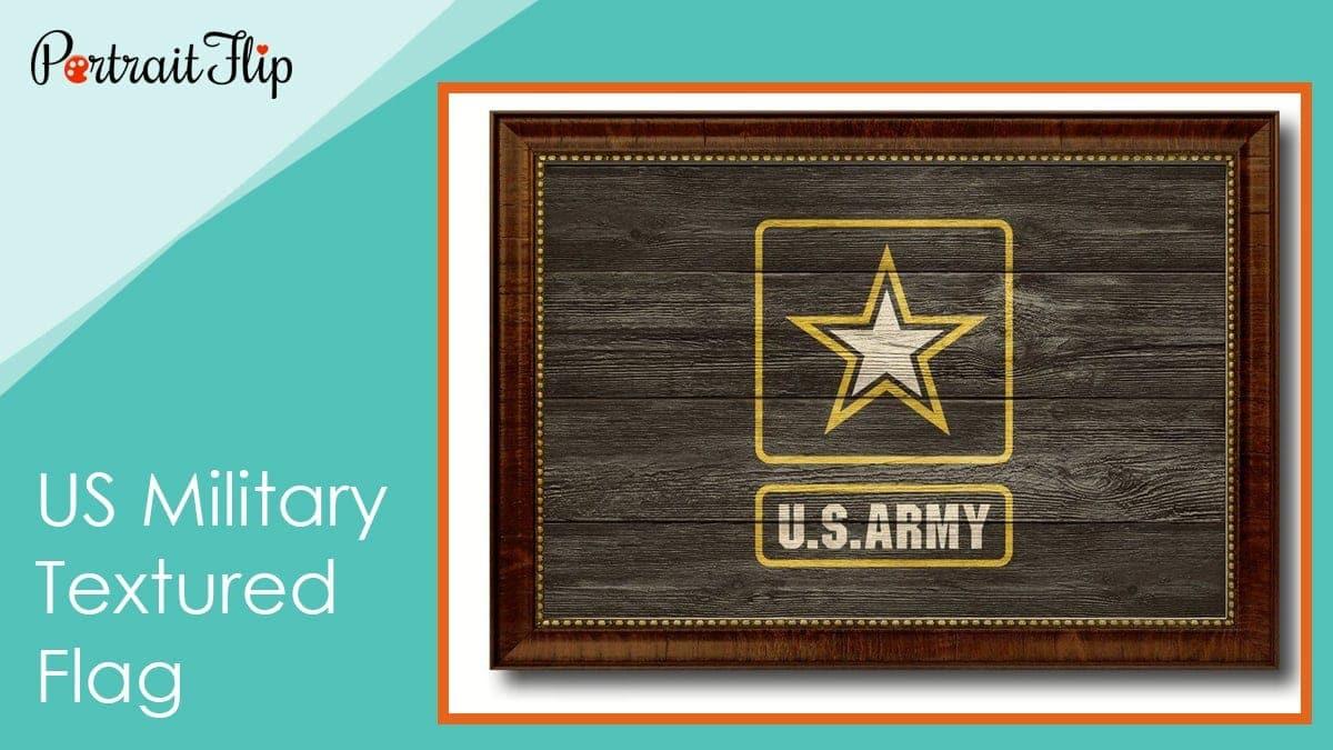 Us military textured flag