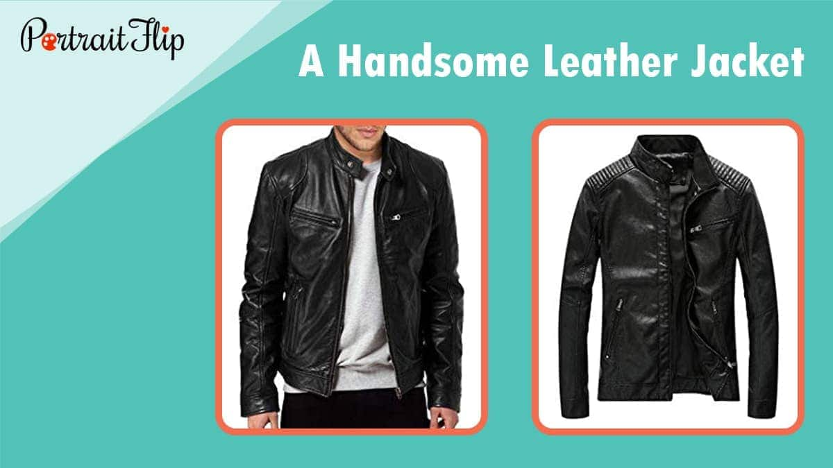 A handsome leather jacket 2