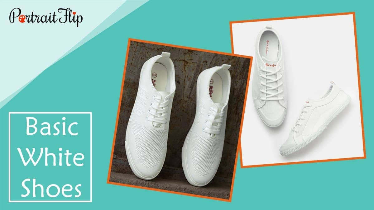 Basic white shoes 1