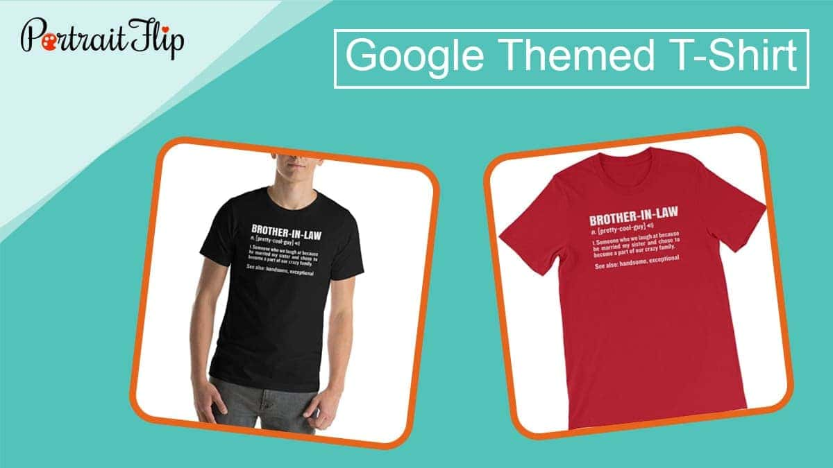 Google themed t shirt