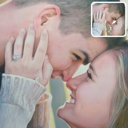 Oil couple painting