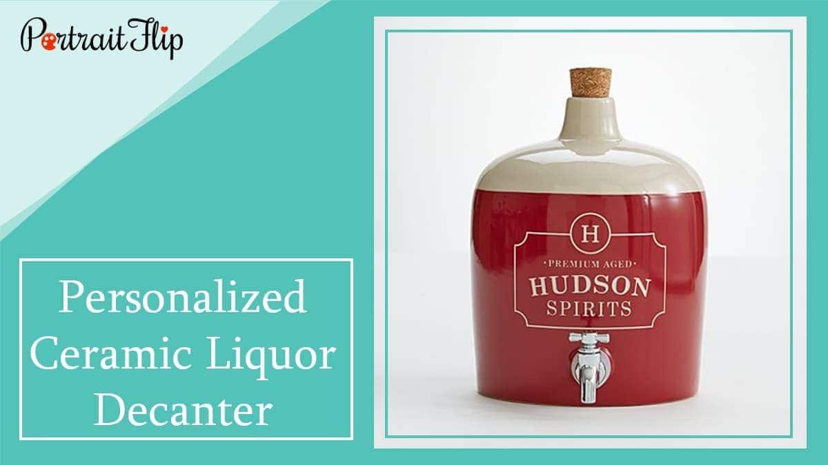 Personalized ceramic liquor decanter