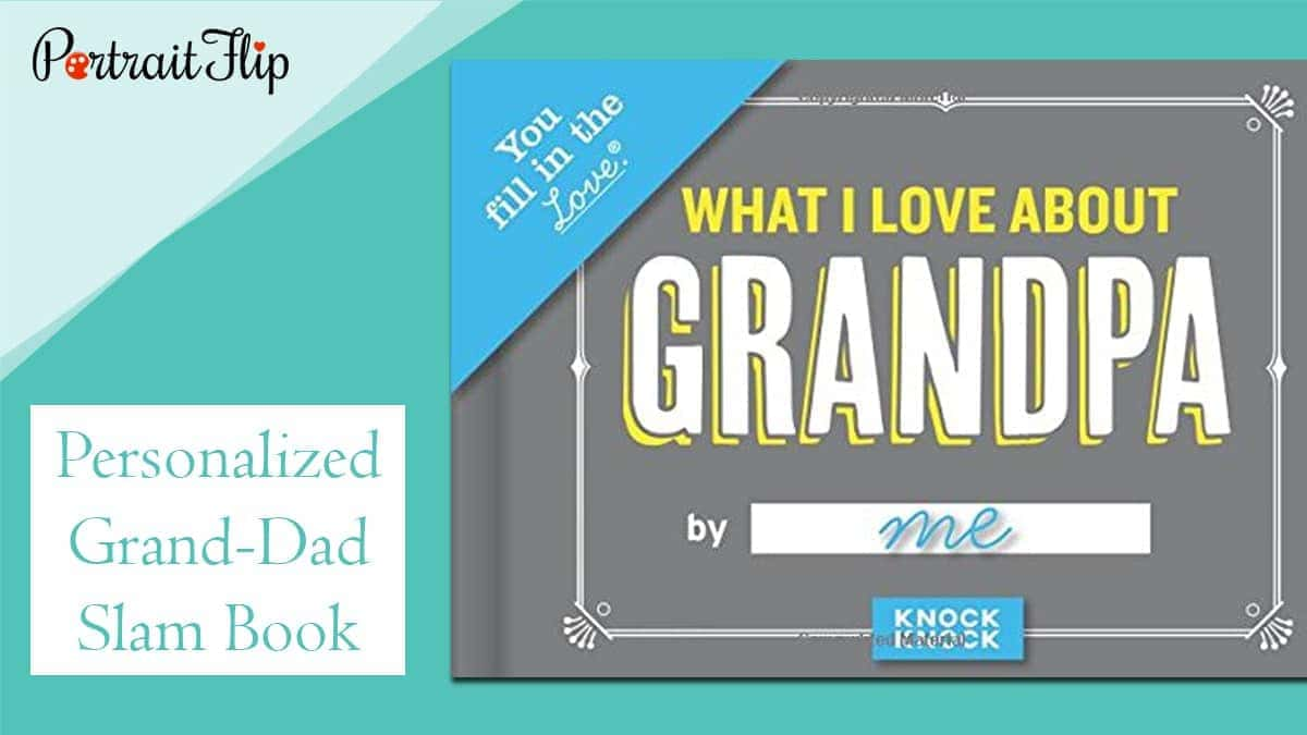 Personalized grand dad slam book