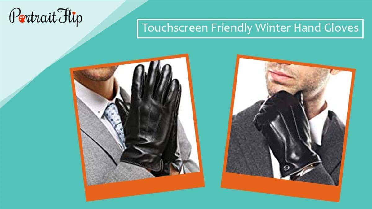 Touchscreen friendly winter hand gloves