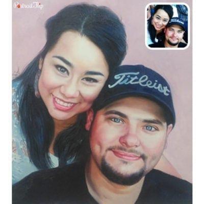 Acrylic couple portrait