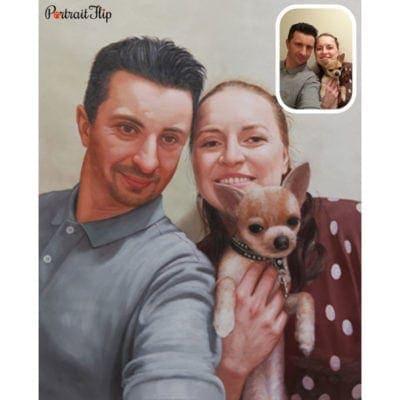 Acrylic couple portraits