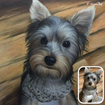 Acrylic pet portraits of dog