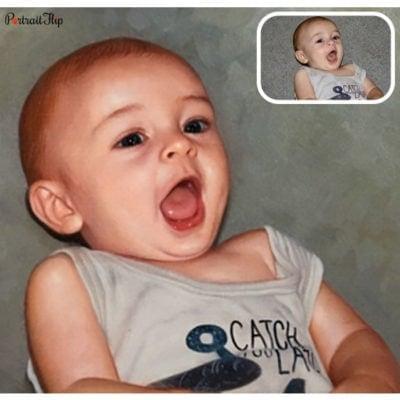 Baby oil paintings