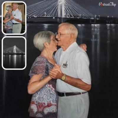 Couple oil portrait (2)