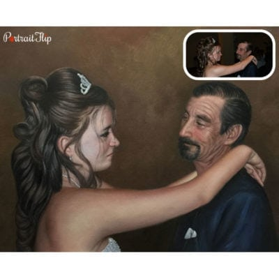 Marriage acrylic paintings from photos