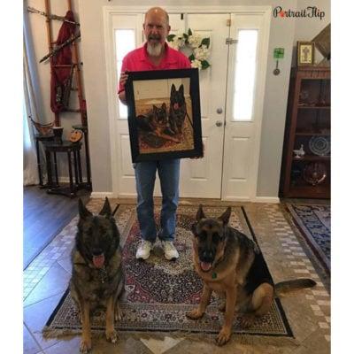 Oil pet portrait from photo
