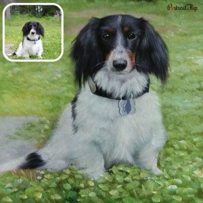 Oil pet portraits of a dog