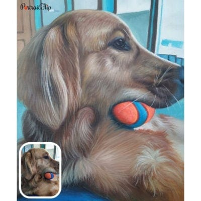 Pet acrylic portrait from photo