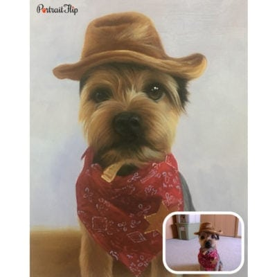 Pet oil portrait from photo (3)