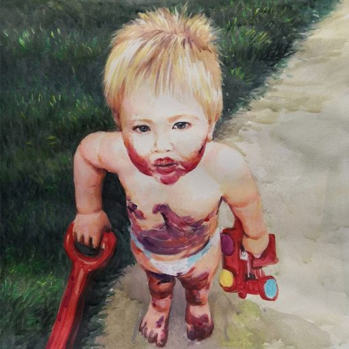 Watercolor painting from photos