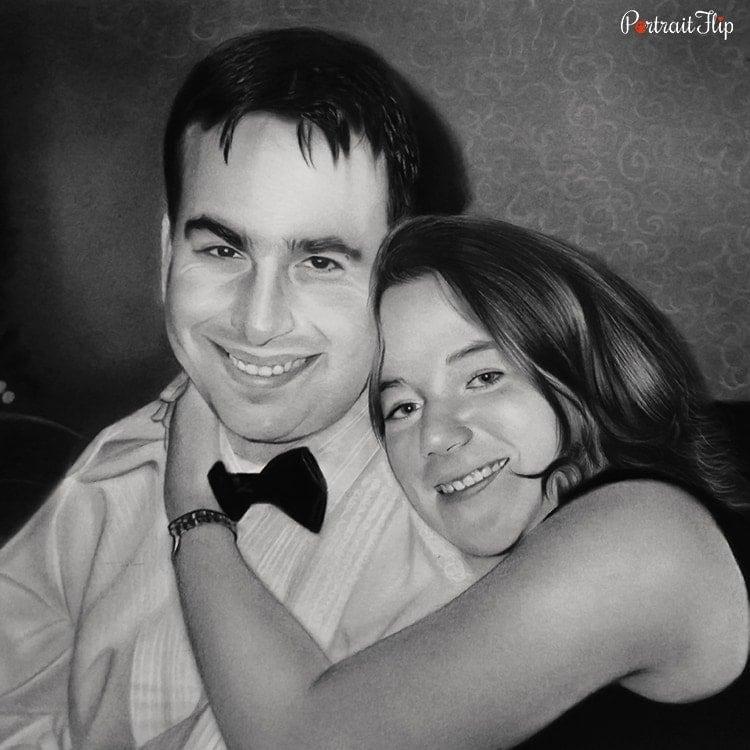 Couple Charcoal Portraits
