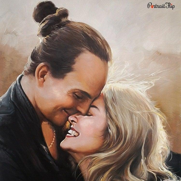 Couple Acrylic Portraits