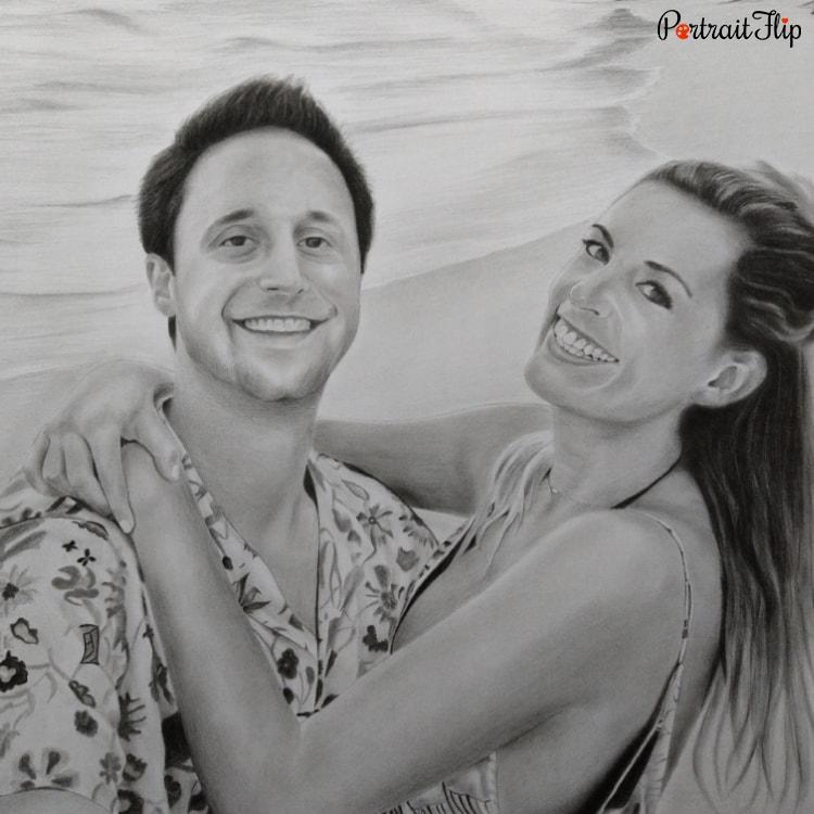 Couple Pencil Portraits