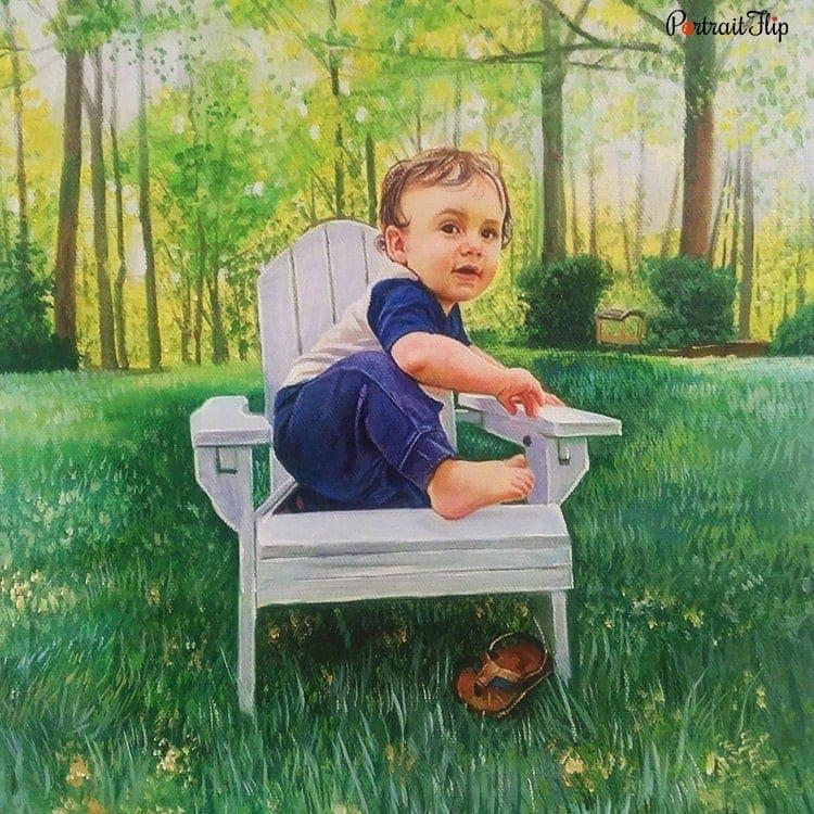 Baby Acrylic Portraits