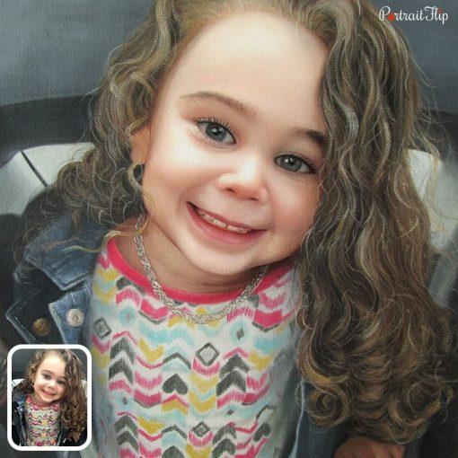 Baby Girl Acrylic Portrait