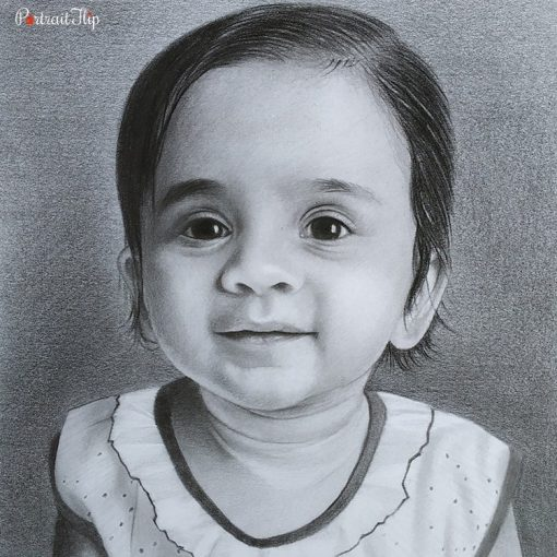 Baby Charcoal Portraits