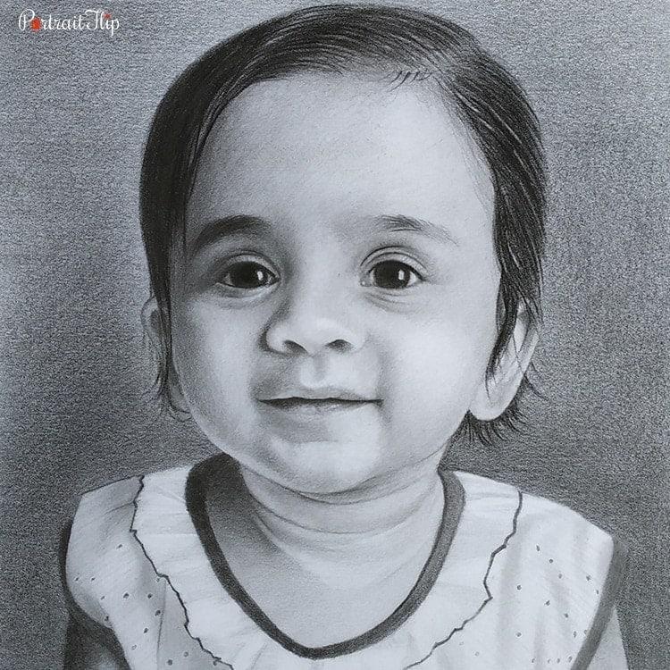 Baby Charcoal Portraits